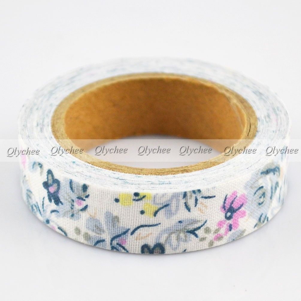 New patterns self adhesive 15mm printing cotton fabric for Decoration tape