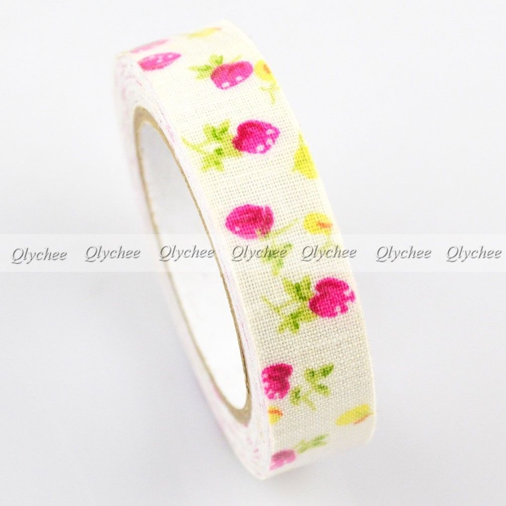 New patterns self adhesive 15mm printing cotton fabric for Adhesive decoration