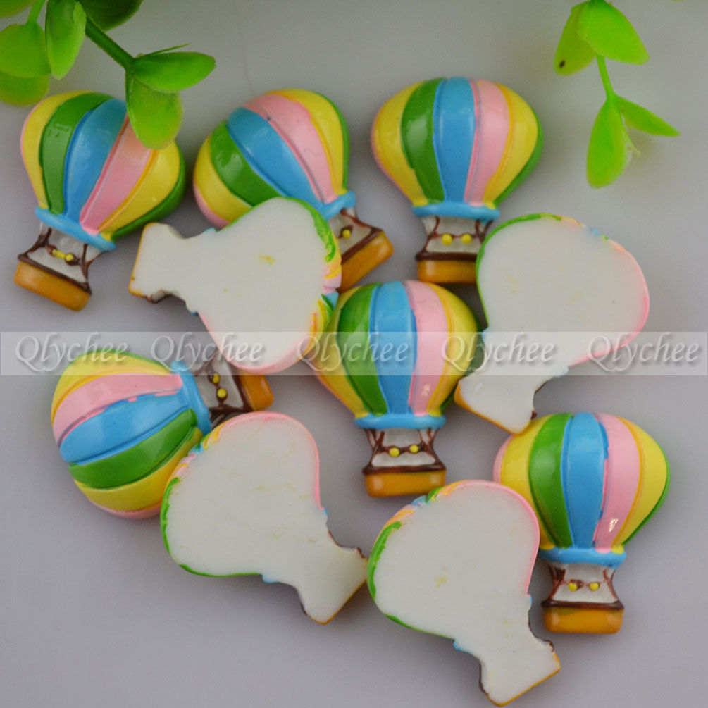 DIY Decor Scrapbooking Colorful Hot Air Balloon Crafts FlatBack Resin Cabochon