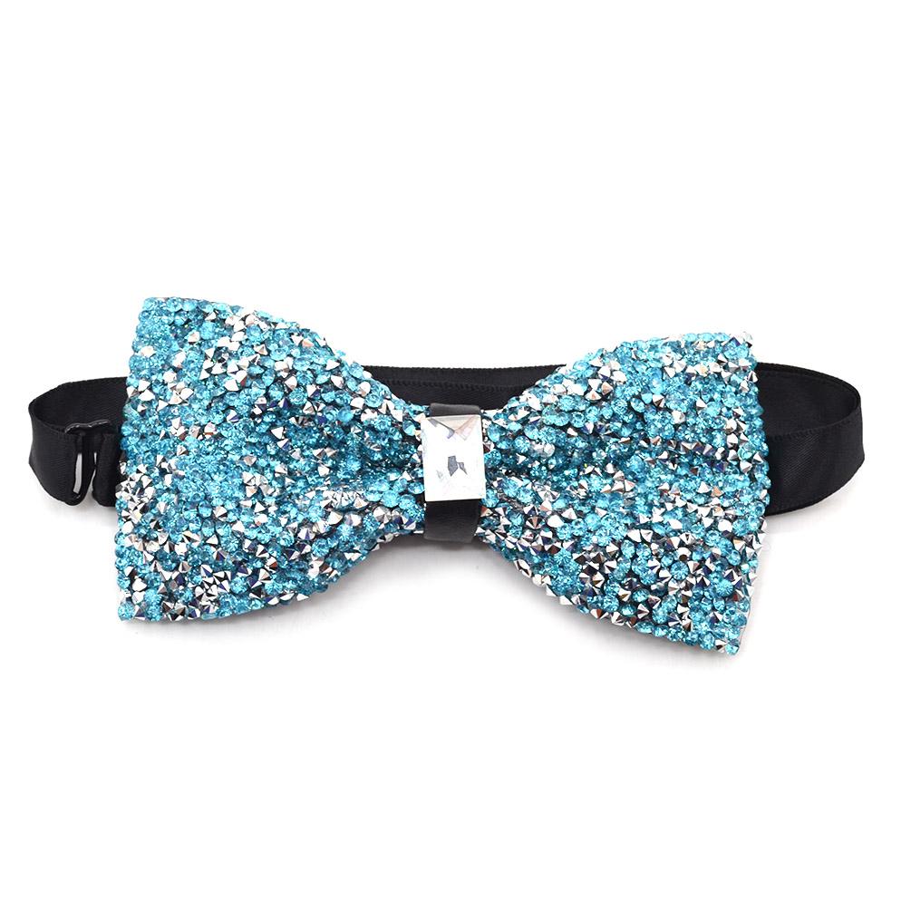 fashion glitter rhinestone pre tuxedo bow tie