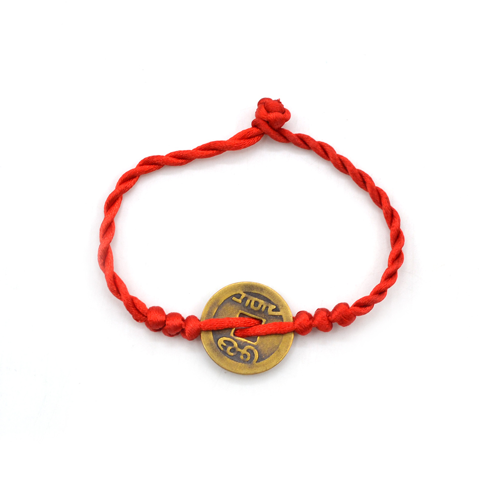 Chinese Feng Shui Red String Wealth Bless Lucky Coin Charm Bracelet Adjustable Ebay