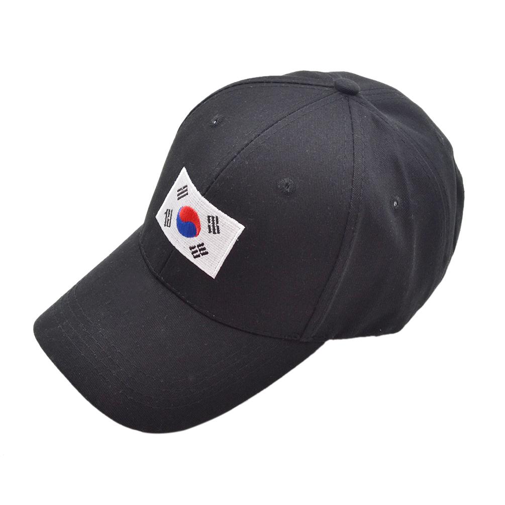 korean flag embroidery fabric hat hip hop kpop