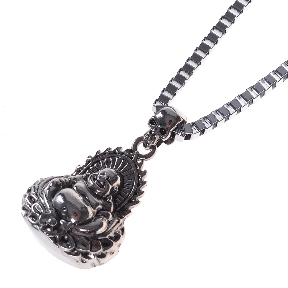 Men Metal Bull Ox Horse Head Skull Pendant Punk Necklace Silver Fashin Jewelry