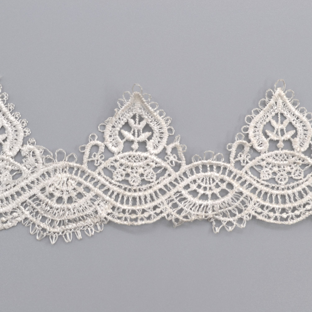 1 Yard Lace Trim Ribbon For Wedding Bridal Dress Embroidered DIY Sewing Craft