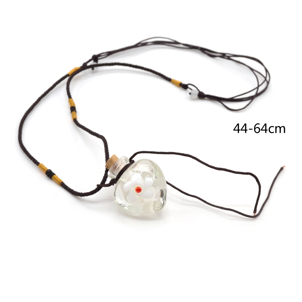 Heart Glass Essential Oil Perfume Bottle Pendant Necklace Jewellery Cute New 1Pc