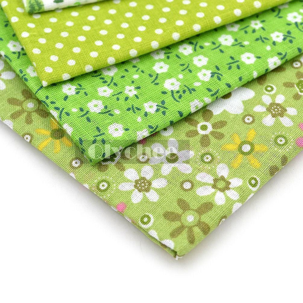 Lot 7 Assorted Pre Cut Charm Cotton Quilt Fabric Squares 50cm Fat Quarter Bundle