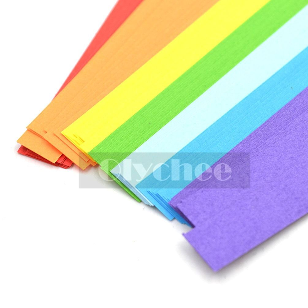 90X Mixed Lucky Wish Star Origami Paper Strips Rainbow Color Set Free Shipping