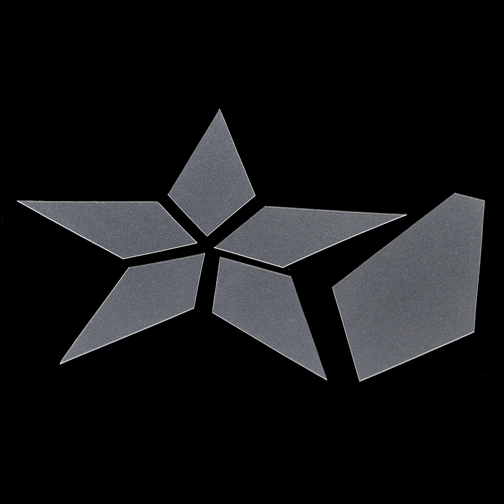 Transparent Frosted Plastic Patchwork Template Star Shape Quilt Mold ...