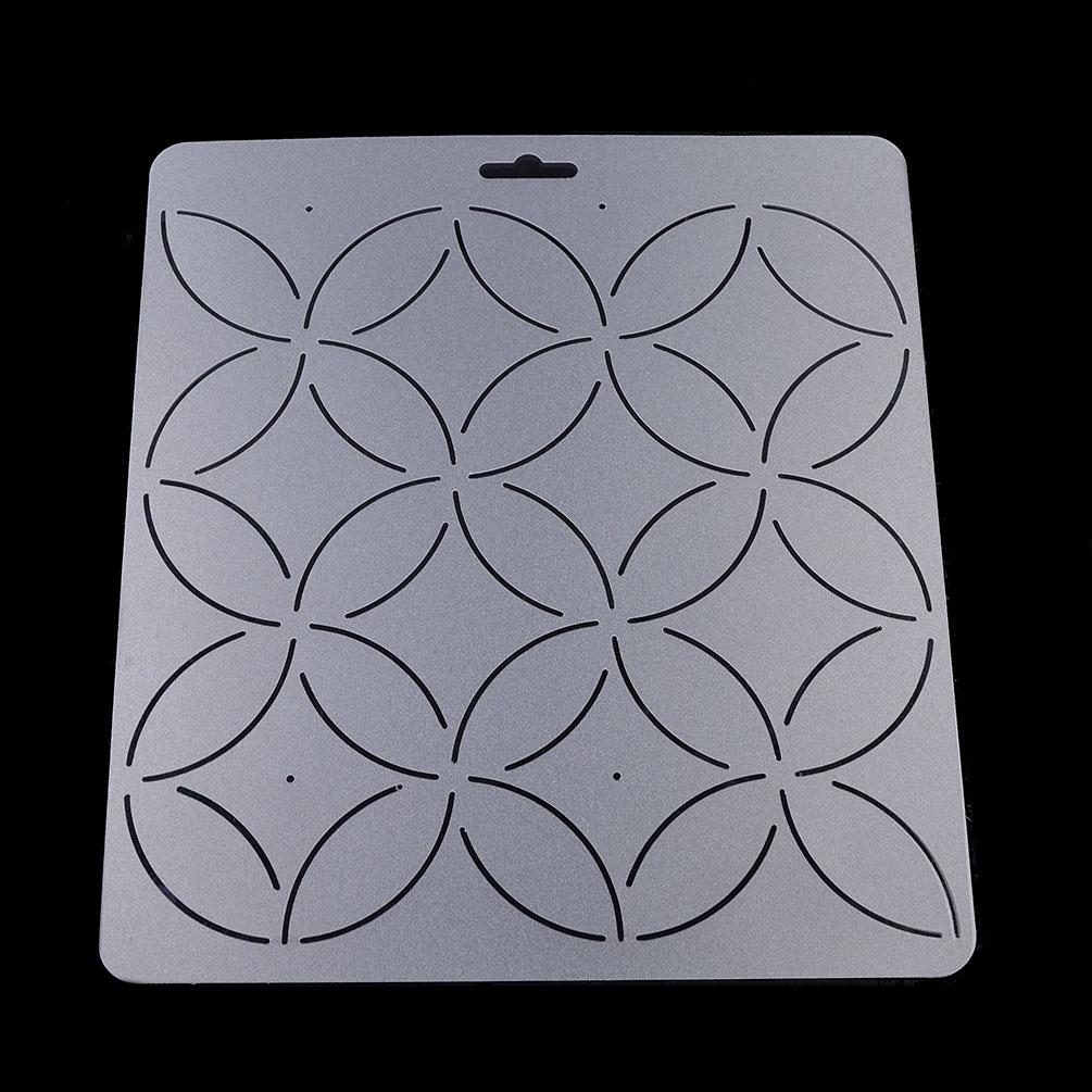 1 Pcs Transparent Plastic Quilting Stencil DIY Stitch Craft Handmade Sewing Tool