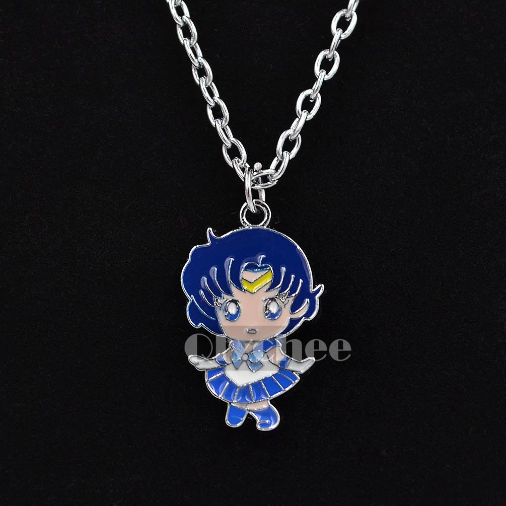 popular anime sailor moon metal necklace chain pendant