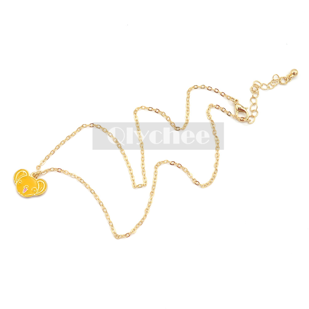 Anime Cardcaptor Sakura Cards Bird Head Star Pendant Necklace Gold Chain Cosplay