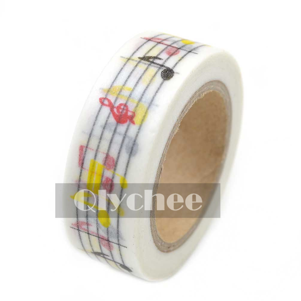 Paper washi masking tape adhesive sticky scrapbooking roll for Decorative paper rolls