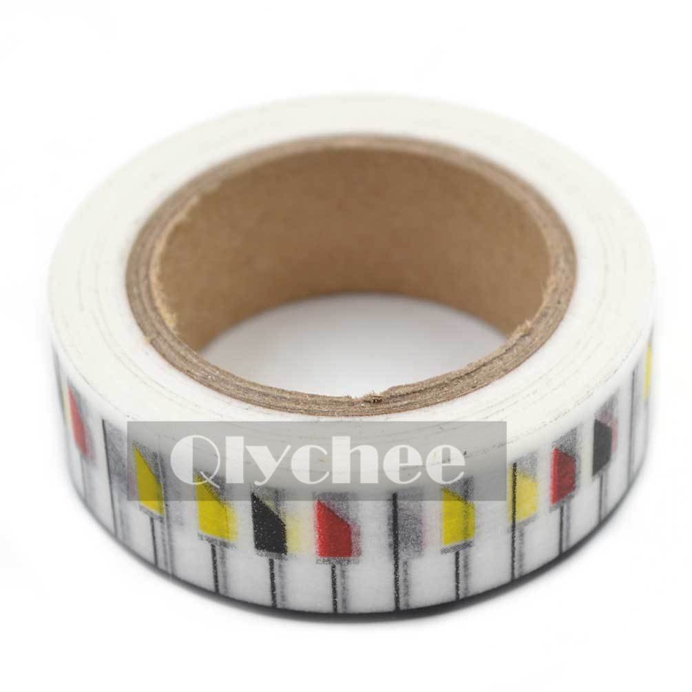 Paper washi masking tape adhesive sticky scrapbooking roll for Decoration masking tape