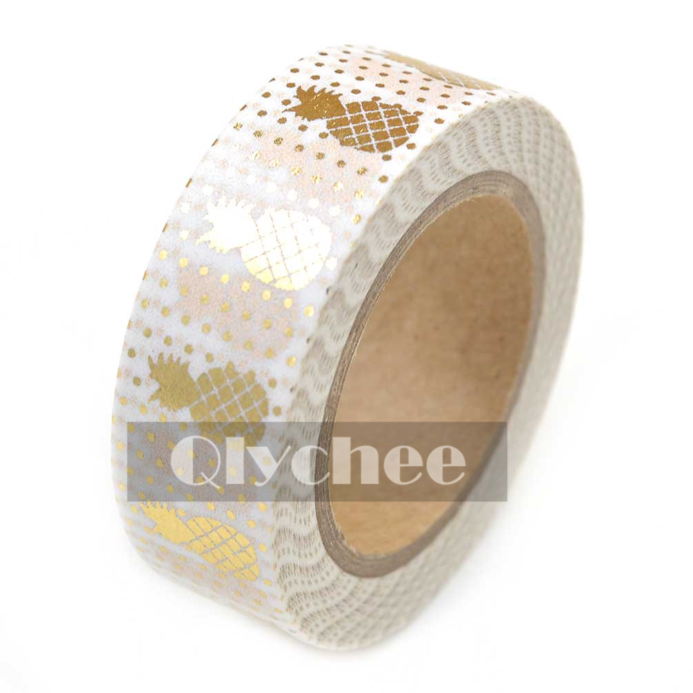 Metallic Gold Washi Tape Scrapbooking Craft DIY paper Sticky Adhesive Sticker