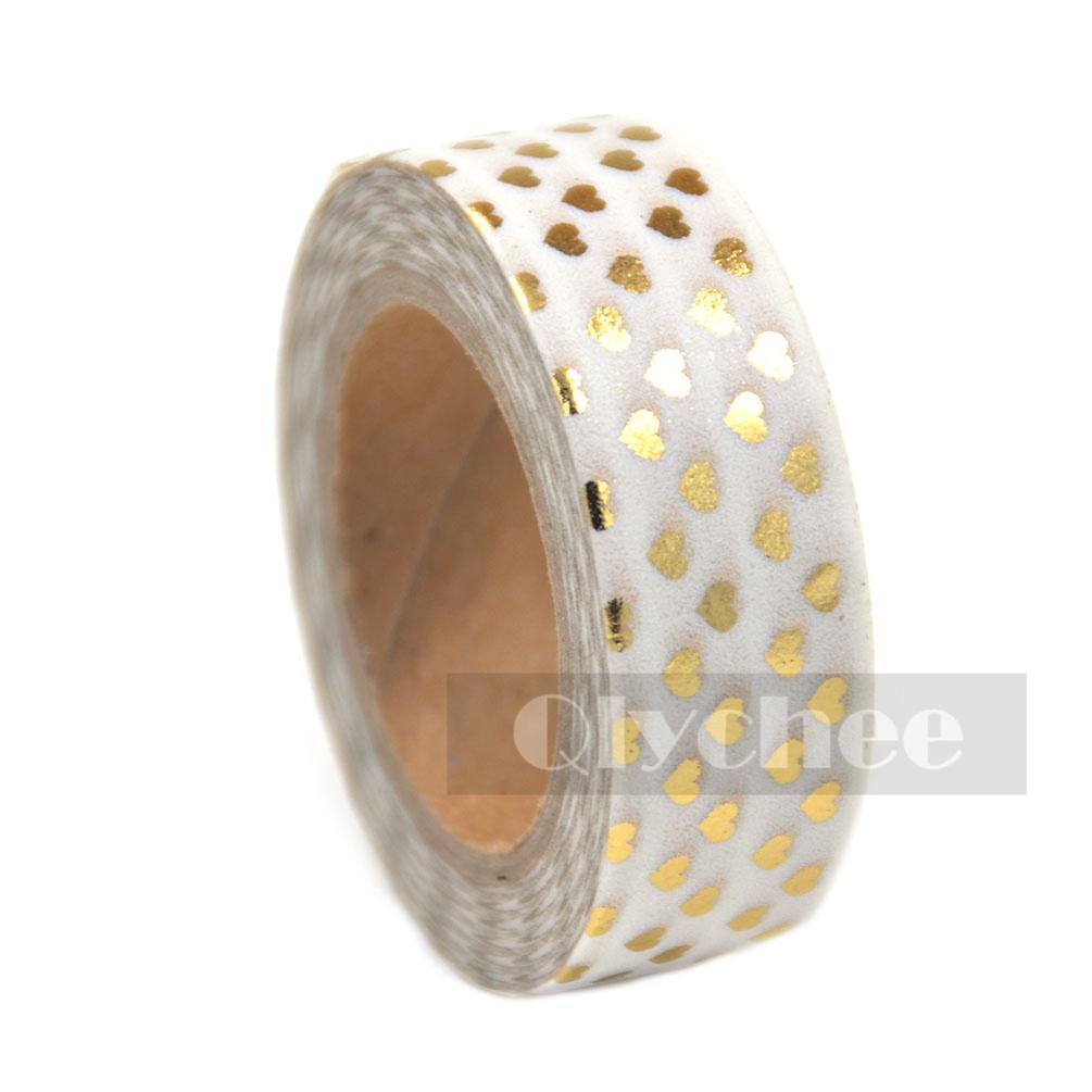 Metallic Gold Silver Chevron Diagonal Washi Tape Scrapbooking DIY Paper Sticky