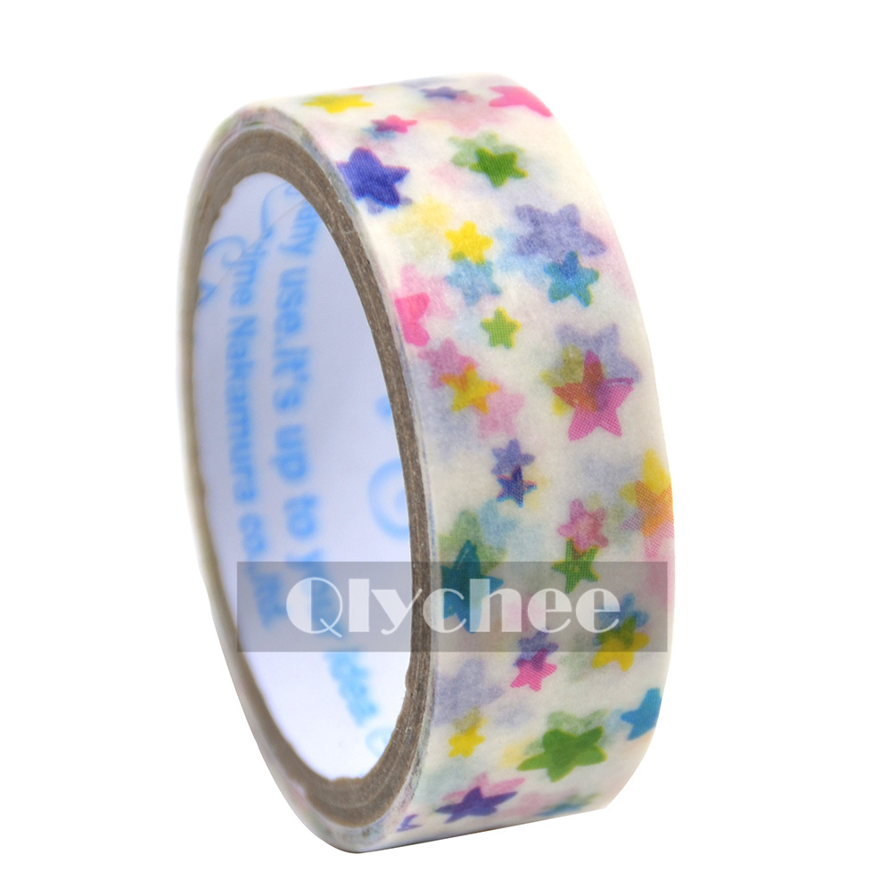 DIY Craft Paper Sticky Adhesive Sticker Decorative Washi Tape Cheap 1.5cm×3M