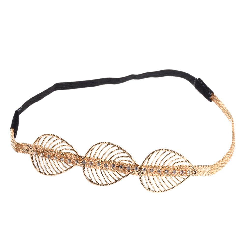 Women Metal Head Chain Jewelry Gold Silver Headband Head ...