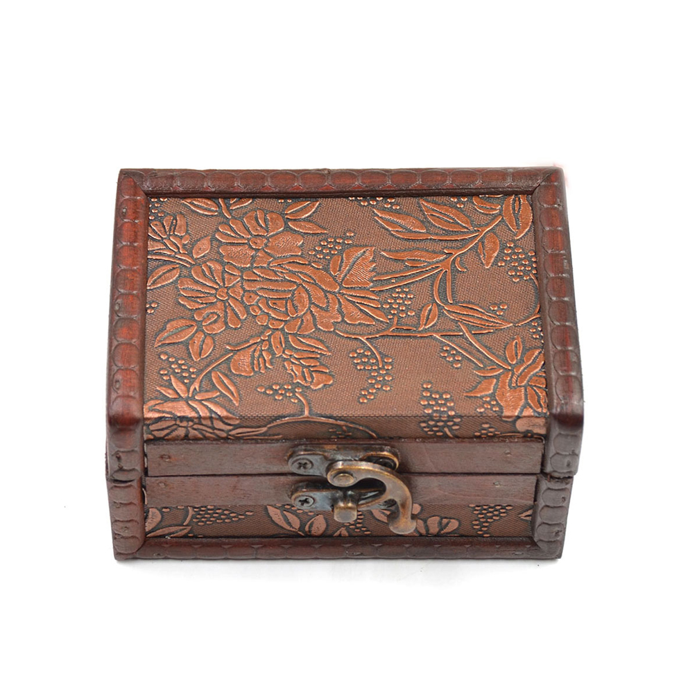 Small Decorative Jewelry Boxes : Vintage wooden decorative trinket jewelry chest box