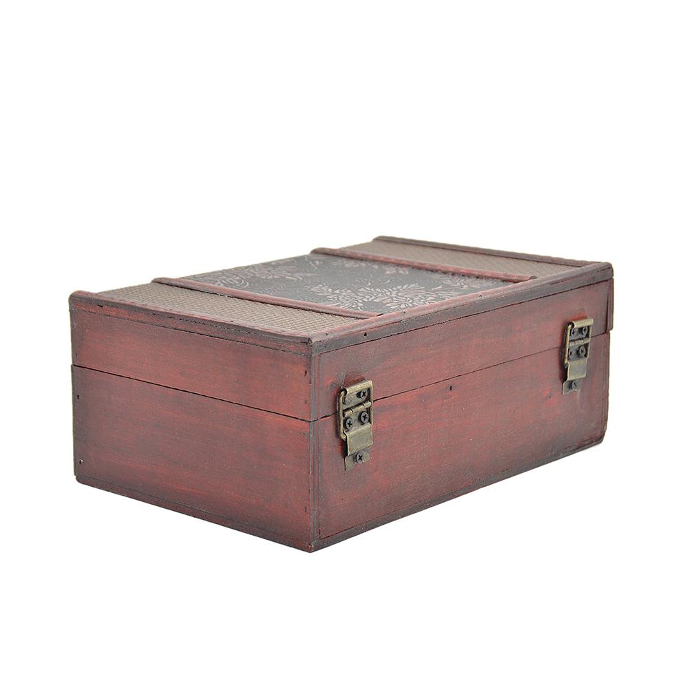 handmade trinket jewelry lock chest vintage wooden storage box organizer case. Black Bedroom Furniture Sets. Home Design Ideas