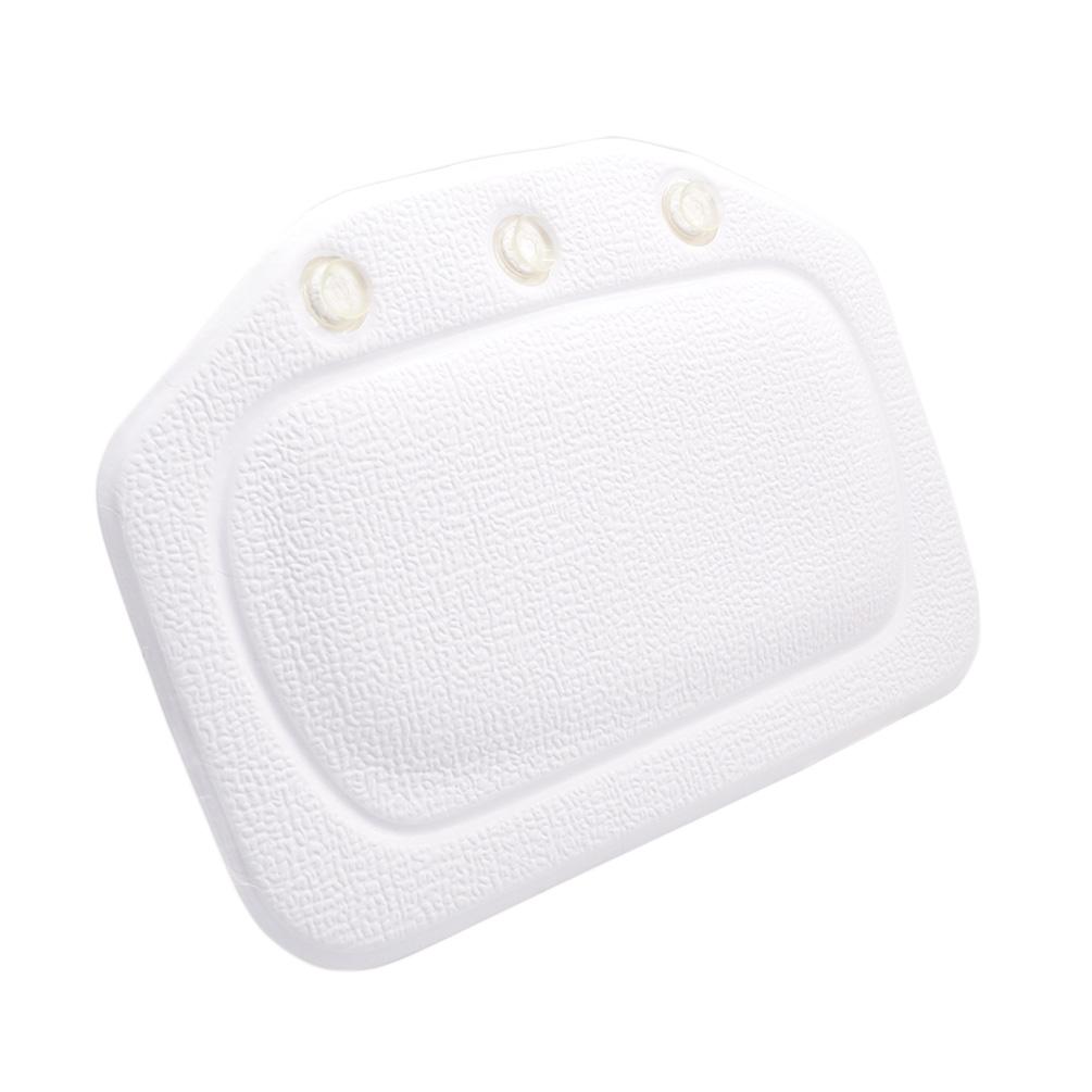 1Pc Bathtub Pillow Headrest Sucker Bath Tub Neck Rest
