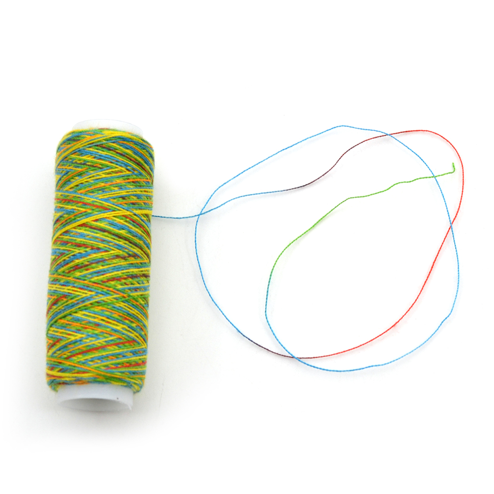 Spool Sewing Nylon Thread Rainbow Hand Quilting Embroidery