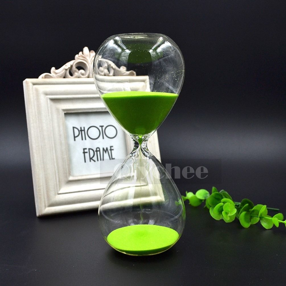 1x glass sand sandglass timer clock hourglass home decor