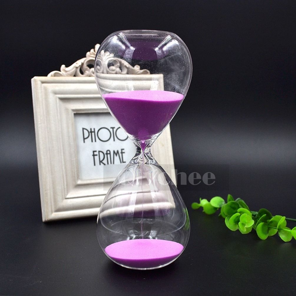 30 minutes glass sand sandglass timer clock hourglass home