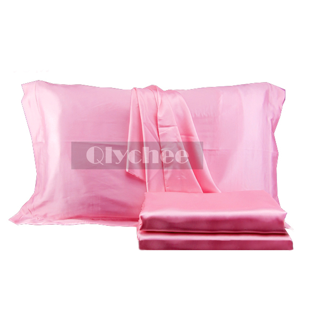 Product - Sweet Dreams Luxury Satin Pillowcase with Zipper, (Silky Satin Pillow Case for Hair) By Shop Bedding. Product Image. OctoRose Set of 2 Zipper Enclosure Super Strong and Durable Pillow Case / Protector / Cover / Pillowcase Silky Satin Less Wrinkle Smooth Feeling Super Soft Satin Pillowcases,Black Color, Queen Size, A Pair/Package.