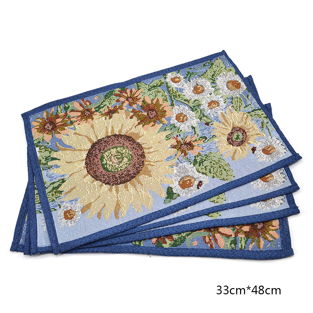Sunflower Floral Table Runner Placemats Tablecloth Blue  : s000zl0630a from www.ebay.com size 1005 x 1005 jpeg 417kB