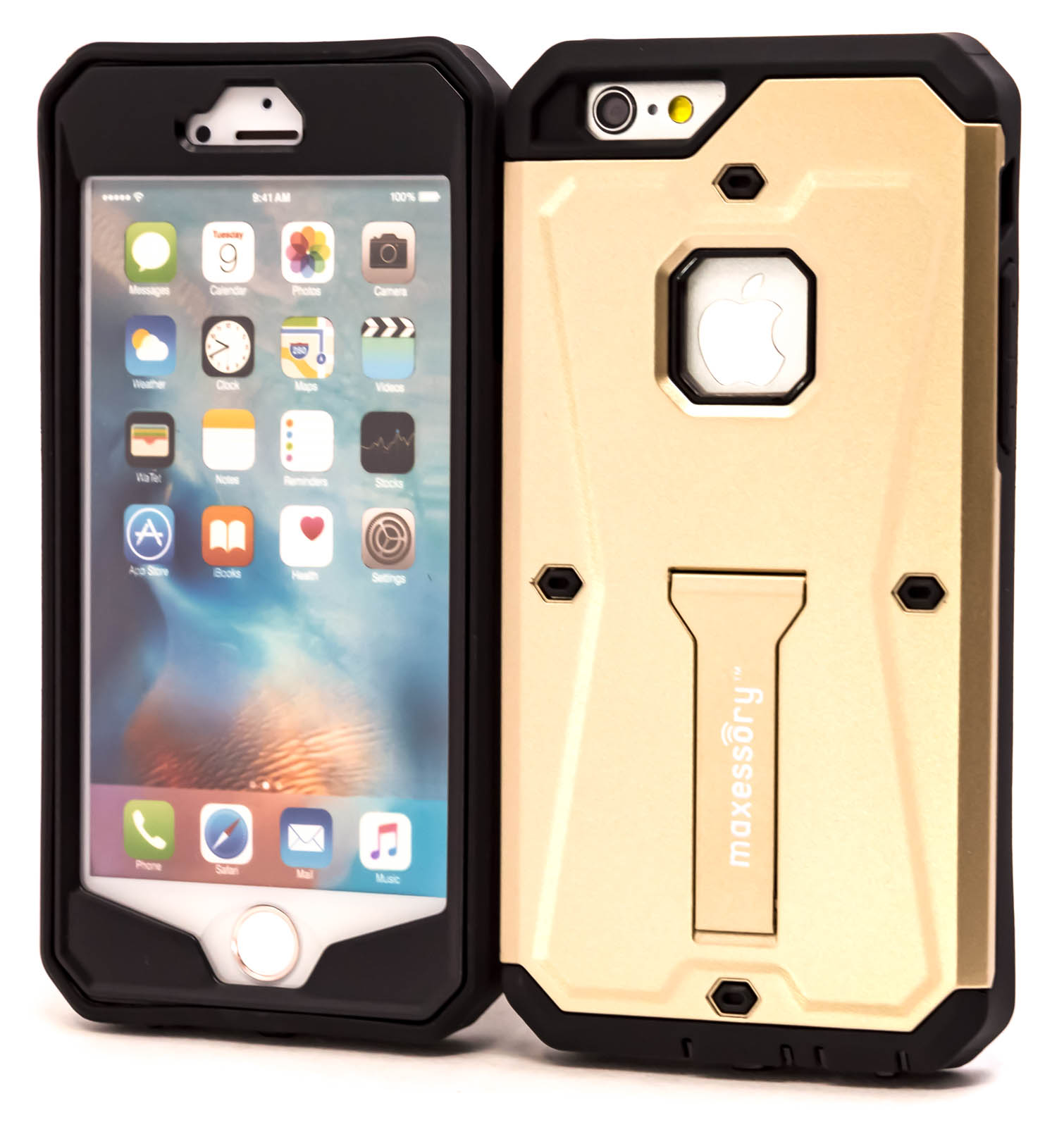 Rugged Hybrid Screen-Cover Shield for Apple iPhone 6s, iPhone 6 Case