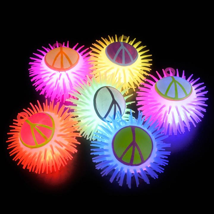 NEW LED Peace Sign Puffer Yo-Yo Ball - Squishy, Goofy Fun for Kids and Adults eBay