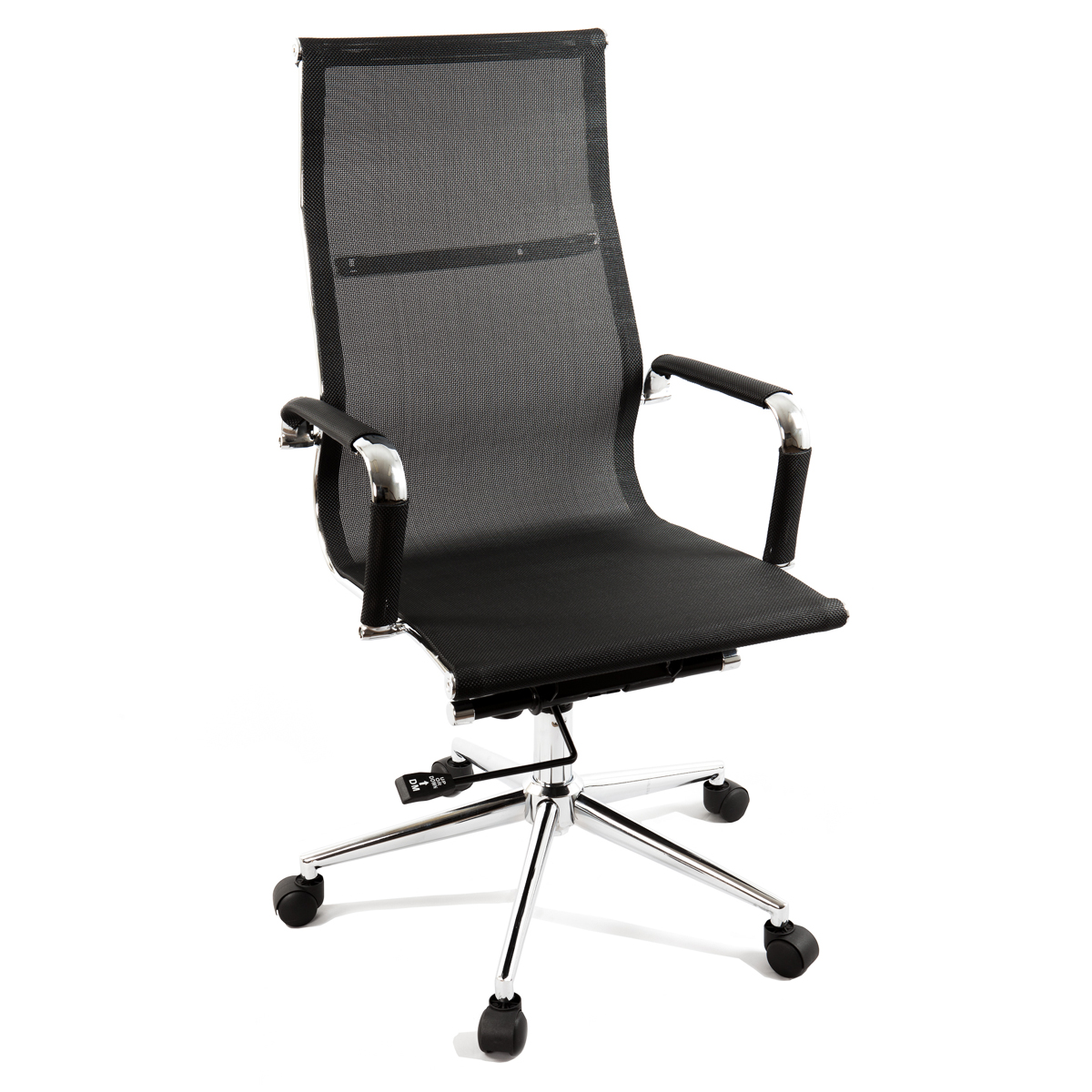 black modern ergonomic mesh high back executive computer desk office