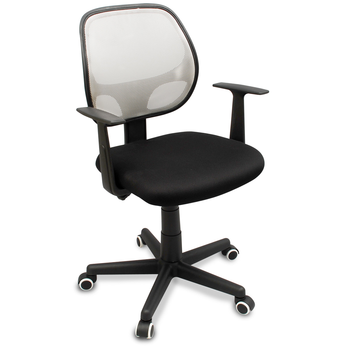 modern mesh ergonomic office task chair with rubber anti scuff wheels