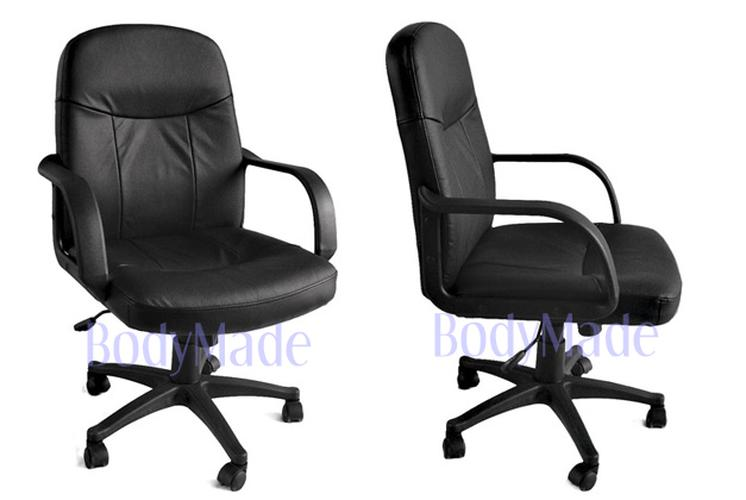 new black leather executive computer desk office chair ebay