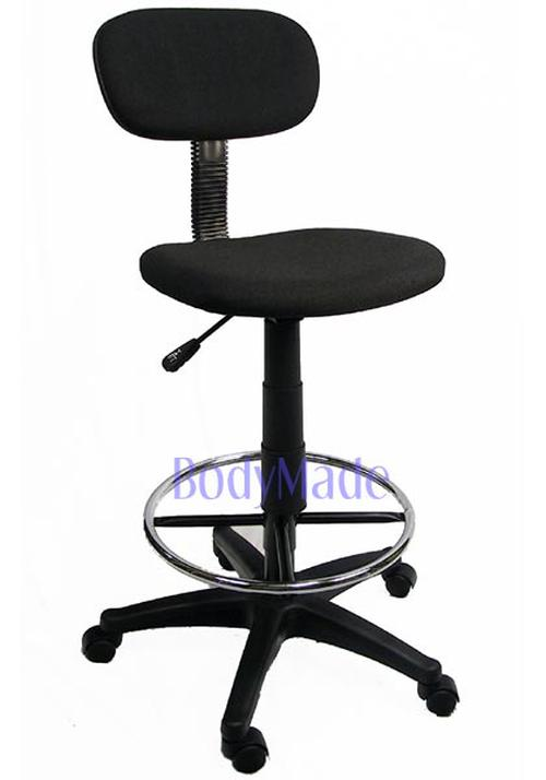 New Drafting Chair Stool Adjustable Black Fabric fice