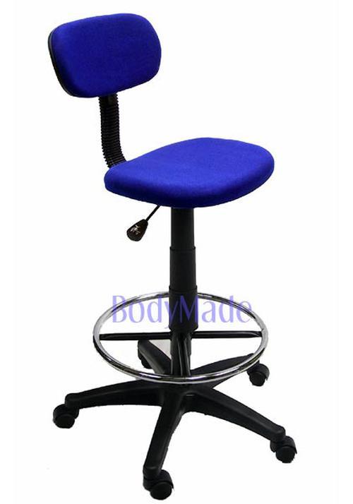 blue fabric desk chair