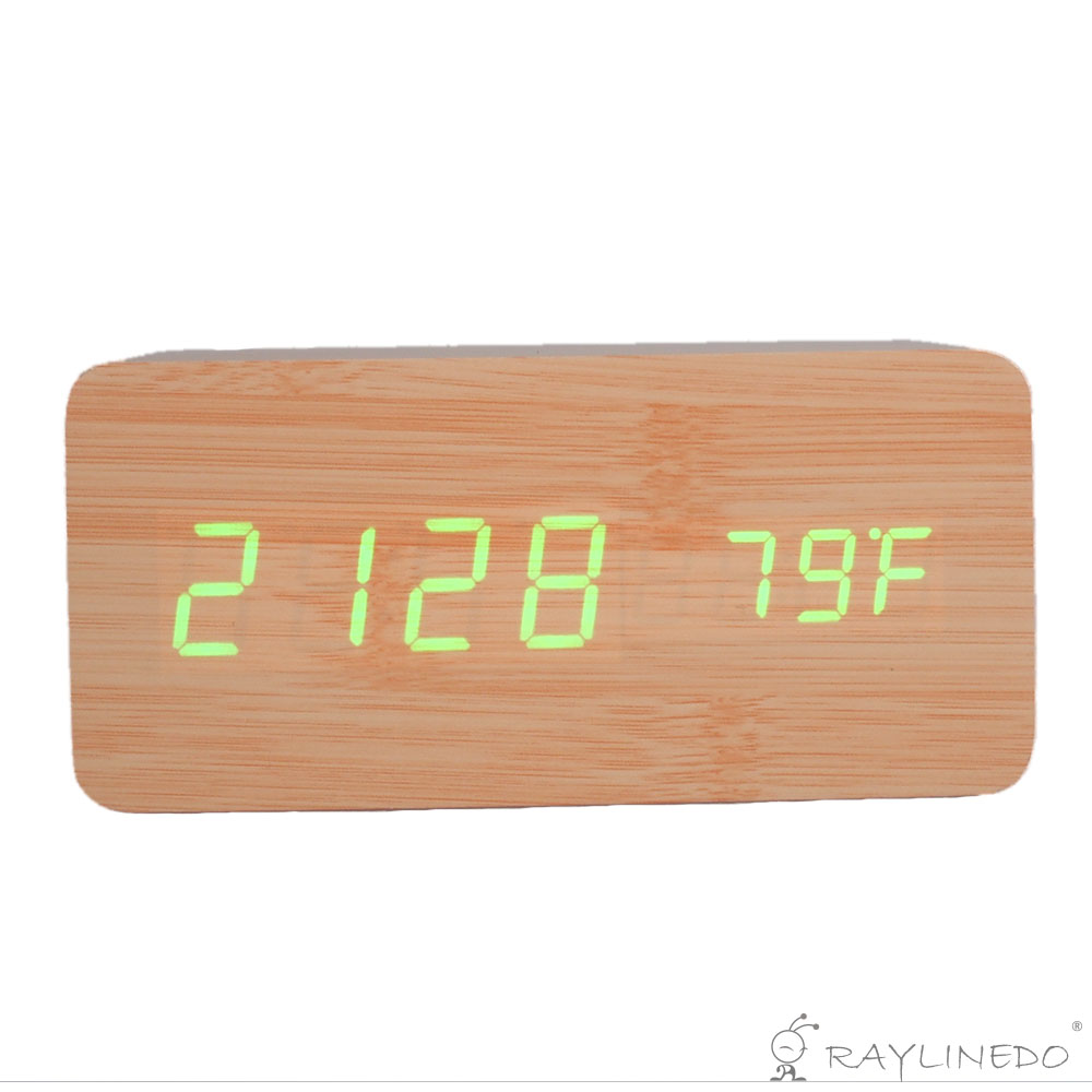 how to set wooden alarm clock
