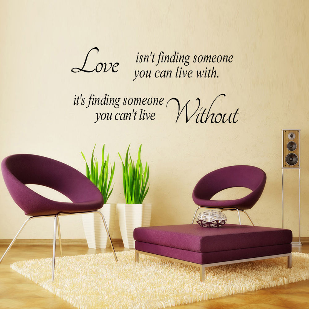 Image Is Loading Removable Quote Words Vinyl Wall Sticker Paper Home
