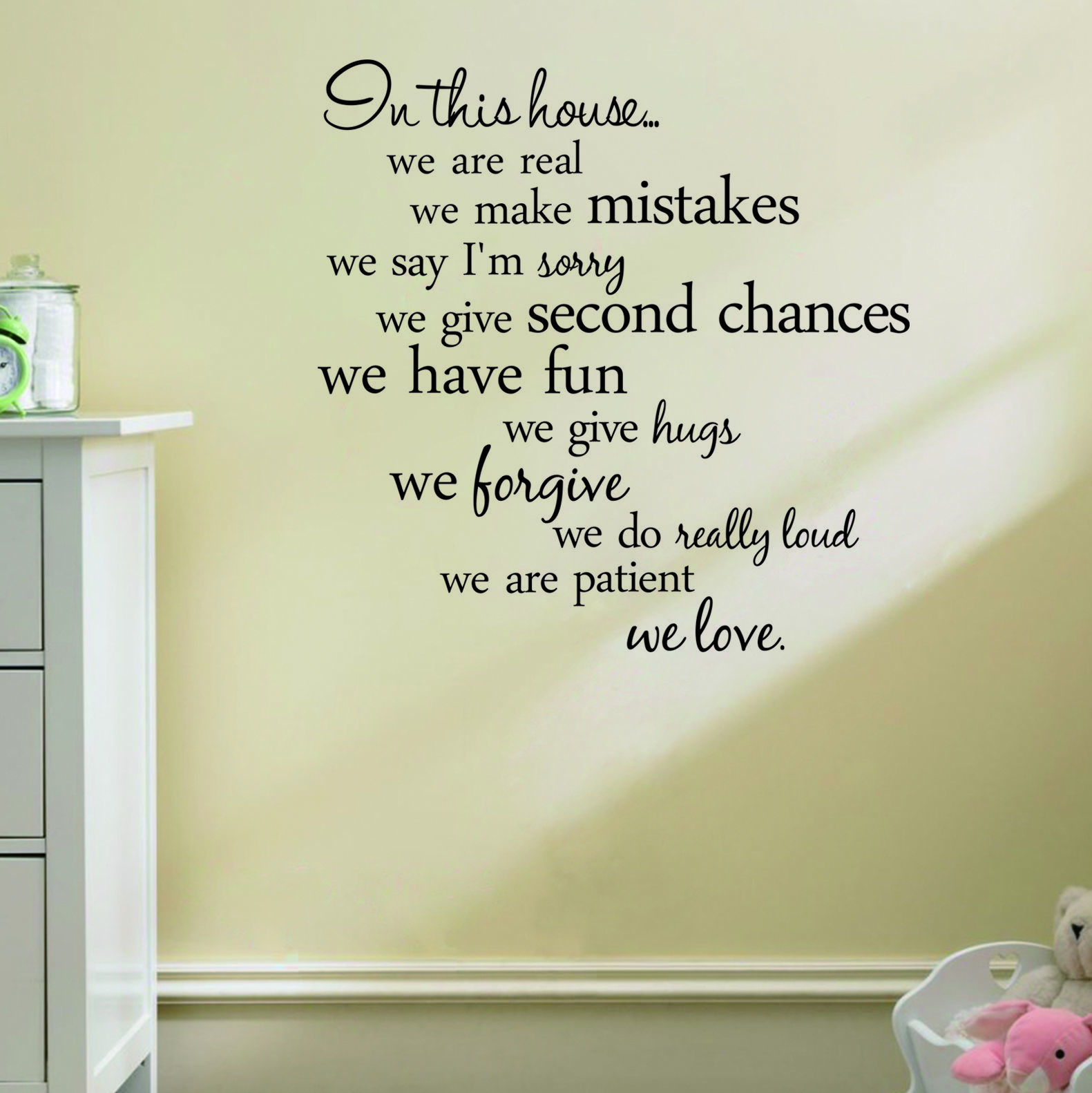 Removable New Design Quote Words Vinyl  Wall Sticker Paper Home Decor
