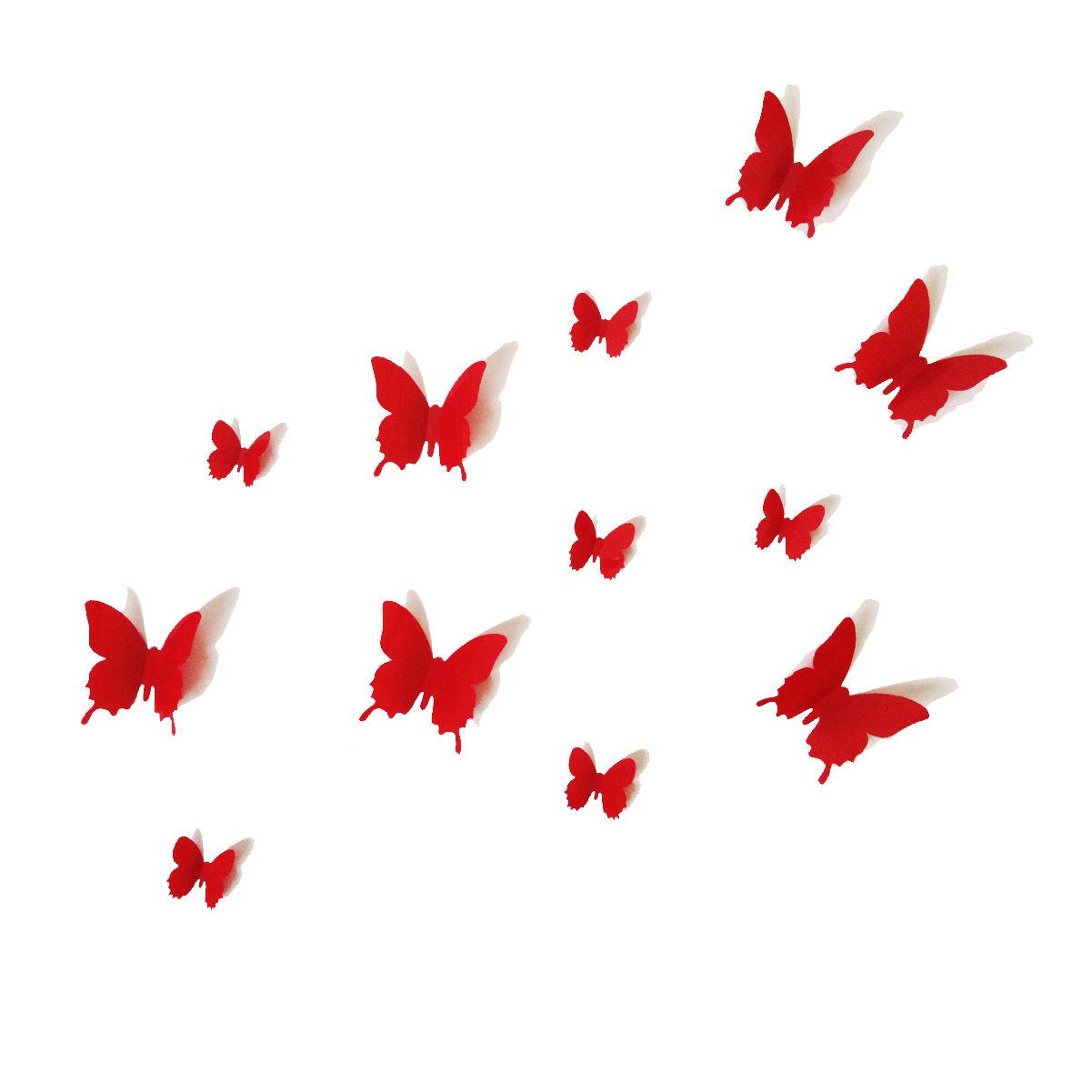 3d Butterfly Wall Decor 12pcs 3d Butterfly Wall Stickers Art Decal Pvc Butterflies Home