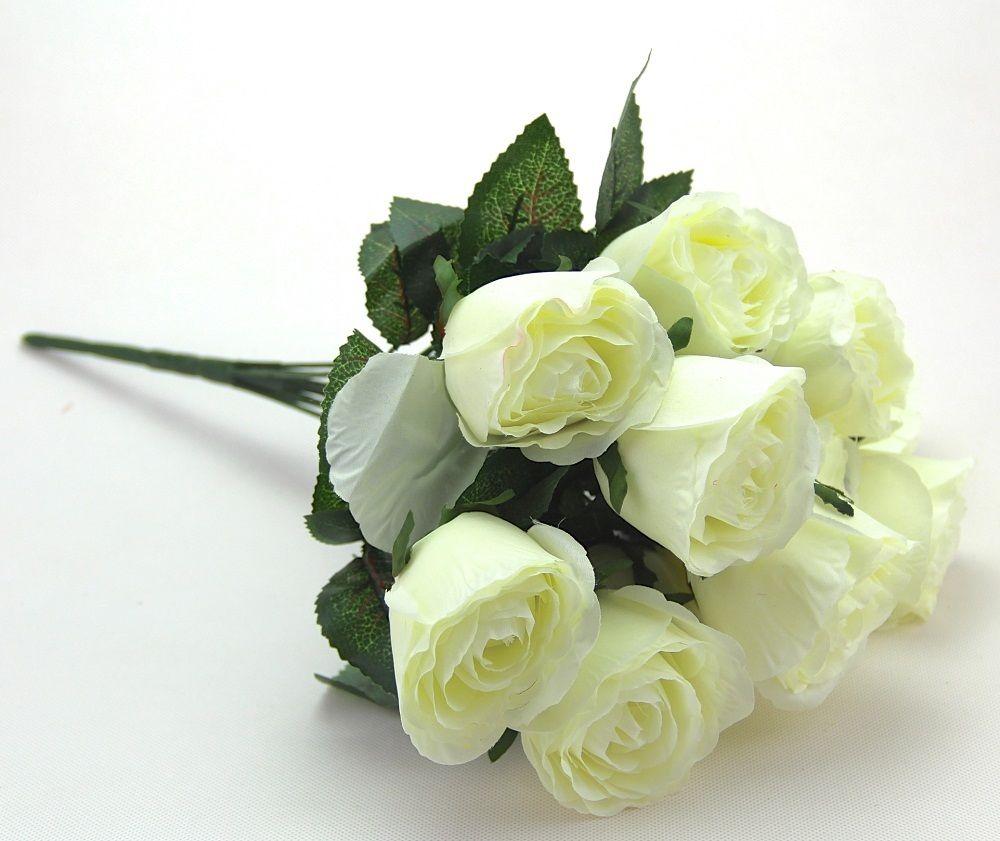 Artificial Silk Flower 11 Heads Rose Party Wedding Supplies Bouquet Decoration