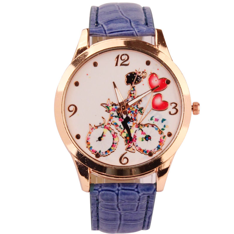 Geneva Ladies Faux Leather Wrist Watch Women Girls Kids Quartz Watch