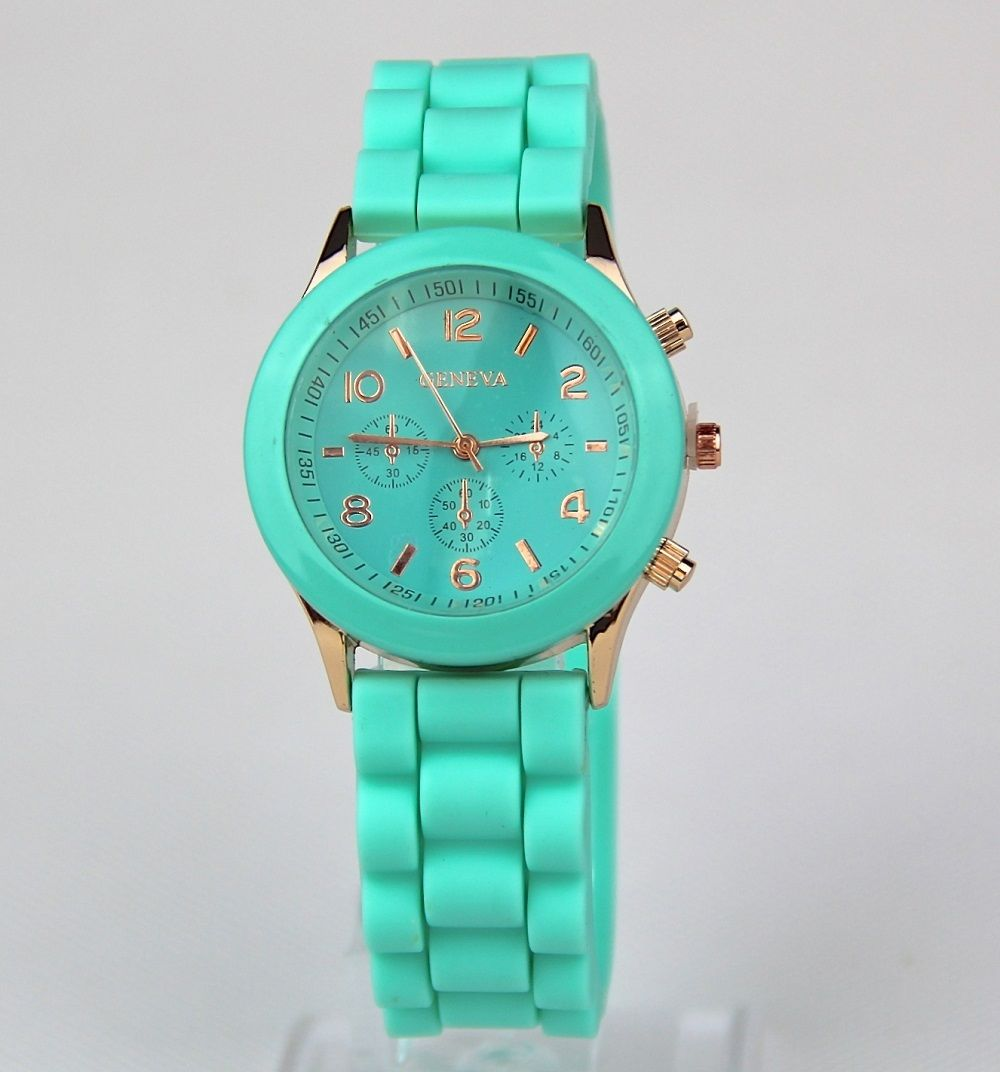 Geneva Ladies Jelly Wrist Watch Women Girls Kids SILICONE Quartz Watch