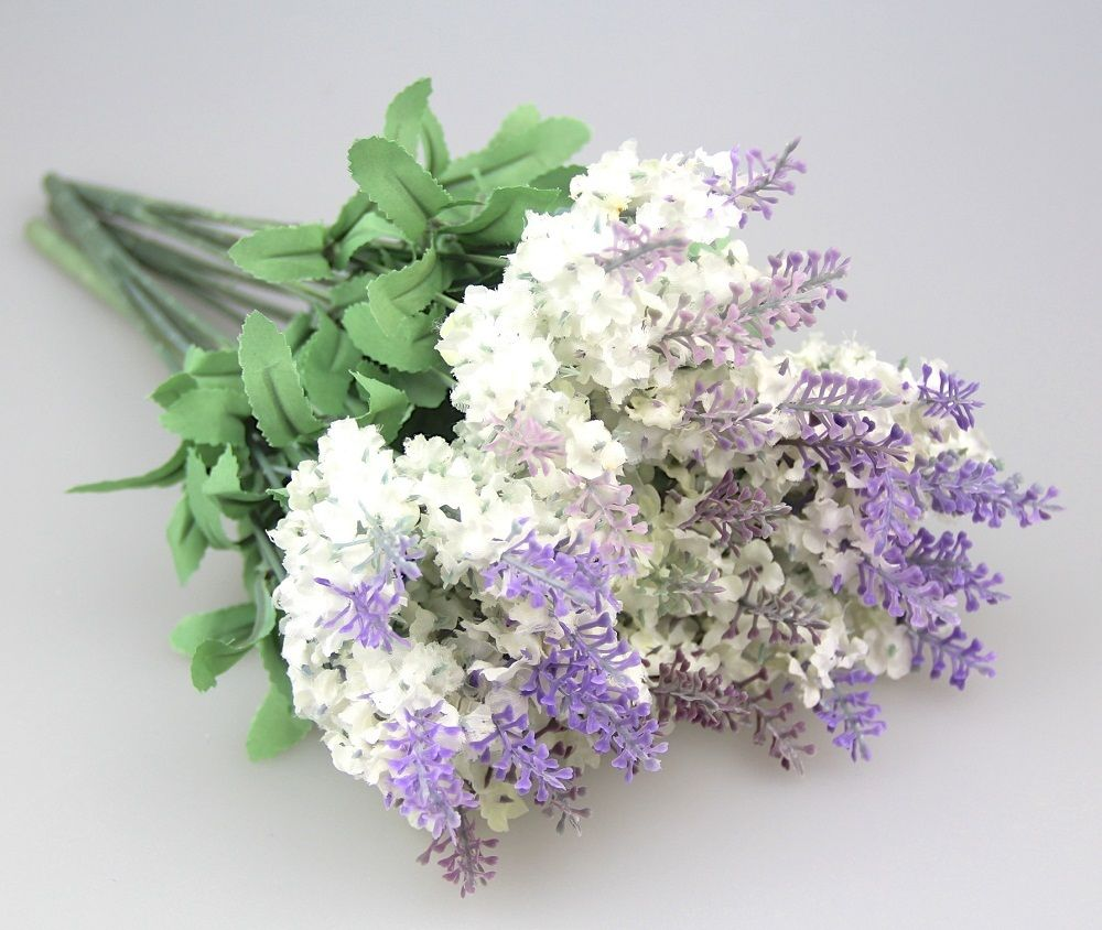 Artificial Lavender Silk Flower Bouquet Home Wedding Garden Floral Decoration
