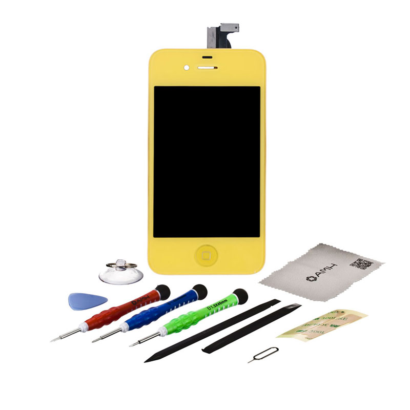 For iPhone 4S or 4 Replacement Front LCD Display Touch Screen Glass+AMH Tool kit