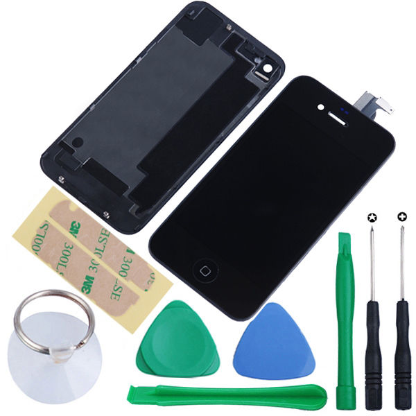 For-GSM-iPhone-4-Replacement-LCD-Touch-Glass-Screen-Digitizer-Back-Housing-Tools