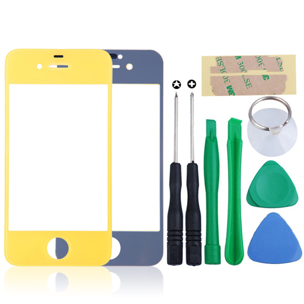 Outer-Front-Glass-Touch-Screen-Lens-Replacement-For-iPhone-4-4G-4S-Tool-kits