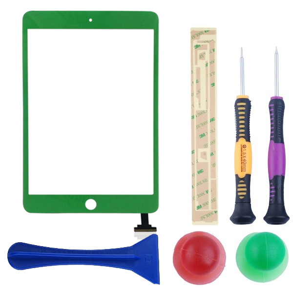 For-iPad-Mini-Front-Panel-Touch-Glass-Digitizer-Screen-Lens-Replacement-Green