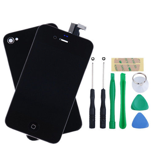 Black-For-iPhone-4-GSM-Replacement-LCD-Touch-Screen-Digitizer-Assembly-Tools