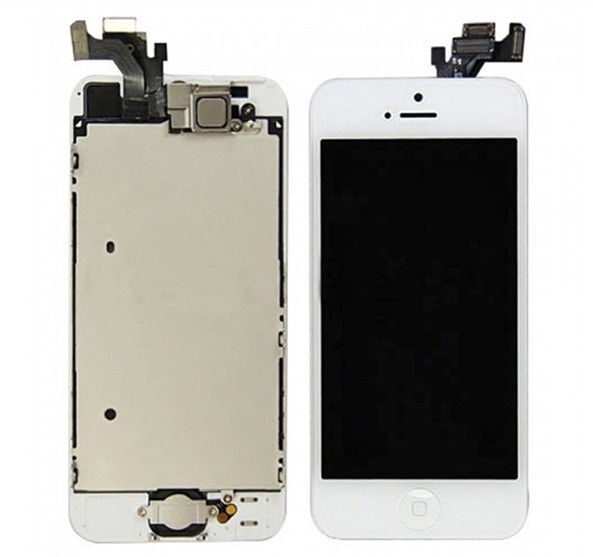 For iPhone 5 LCD Touch Screen Digitizer Camera Flex + Home Button+Frame Assembly